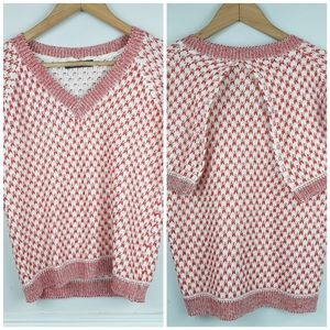 AceEland Zara Knit Sweater Top Cape Style Sleeves